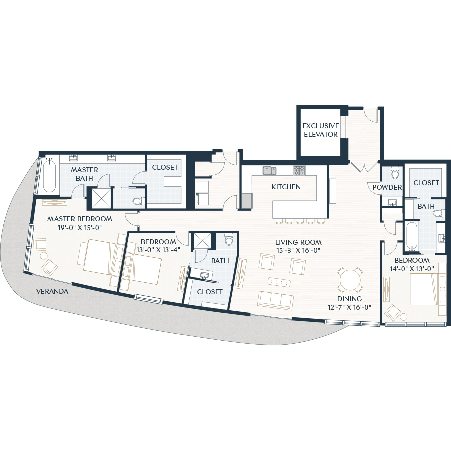 2,694 sq. ft. C1.1D floor plan