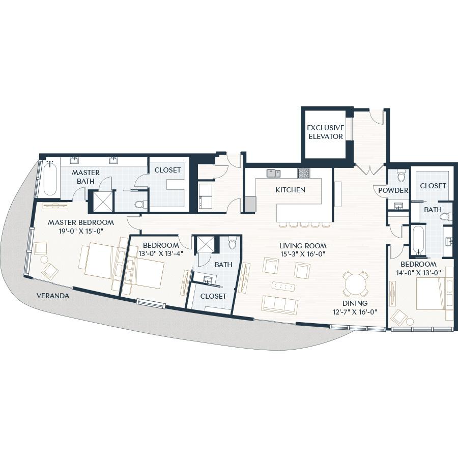 2,681 sq. ft. C1D floor plan