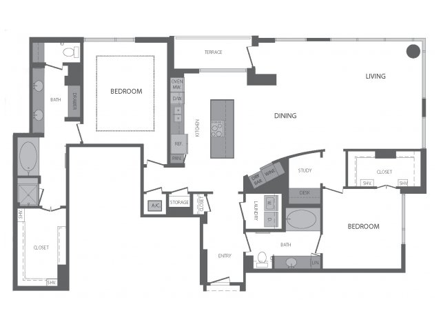1,943 sq. ft. P floor plan