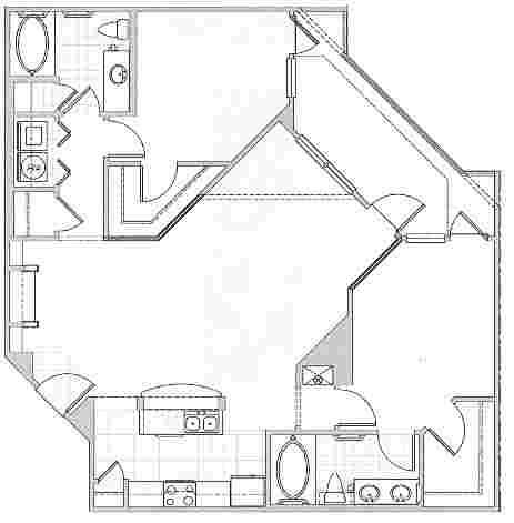 1,198 sq. ft. ST. TROPEZ floor plan
