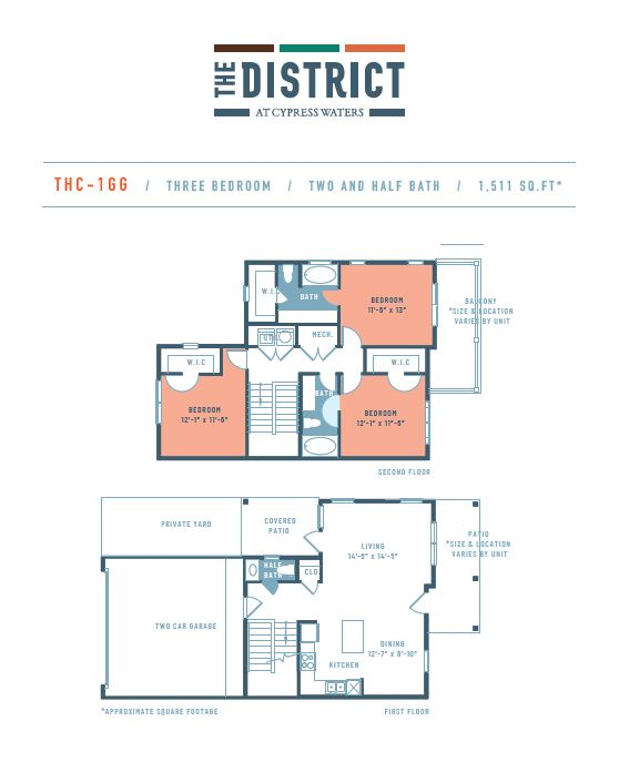 1,511 sq. ft. THC1GG floor plan