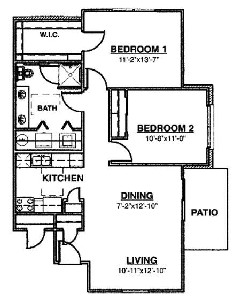 928 sq. ft. Ph I 60% floor plan