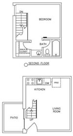 450 sq. ft. E2 floor plan