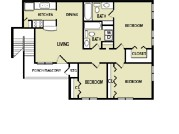1,128 sq. ft. D floor plan