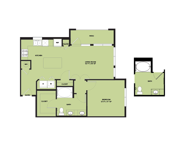 770 sq. ft. A4-ANSI floor plan