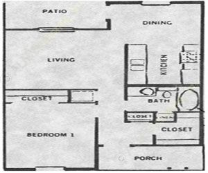 600 sq. ft. 50% floor plan