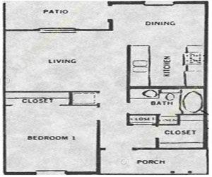 600 sq. ft. 50% floor plan