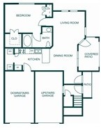 755 sq. ft. 60% floor plan