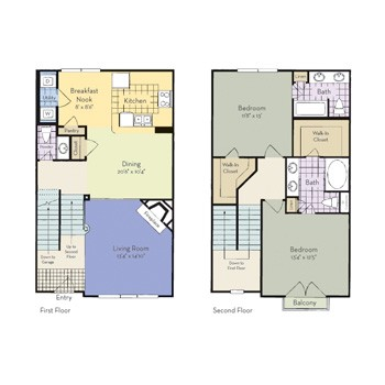 1,394 sq. ft. Ravenna floor plan