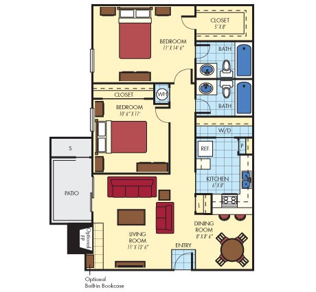 911 sq. ft. Lonestar floor plan
