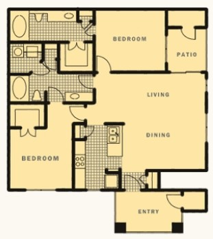 1,153 sq. ft. Collins floor plan