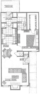 724 sq. ft. Cheyenne floor plan