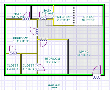 834 sq. ft. floor plan