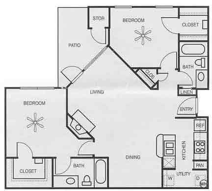 1,082 sq. ft. B2C PH II/MAGNOLIA floor plan