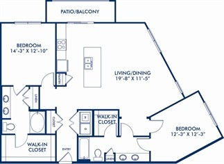 1,349 sq. ft. B5 floor plan