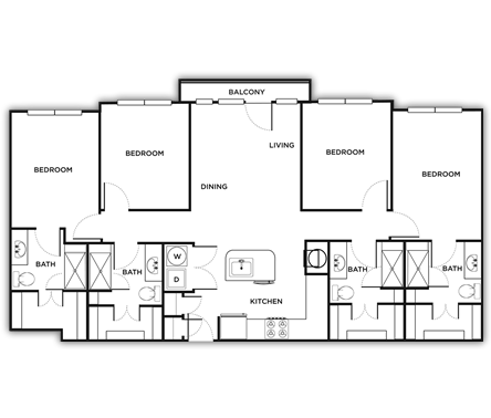 1,467 sq. ft. Milan floor plan
