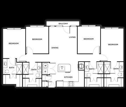 1,467 sq. ft. Milan floor plan