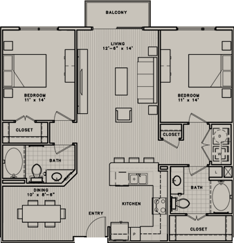 1,189 sq. ft. B1 floor plan