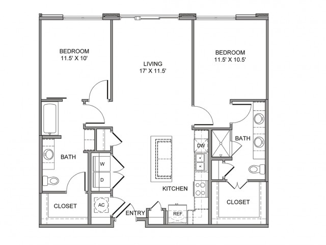 1,099 sq. ft. Field floor plan