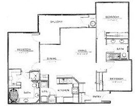 1,380 sq. ft. C1-Ph I floor plan