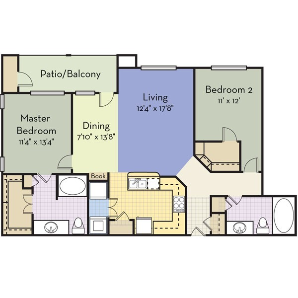 1,245 sq. ft. Paradise Bay floor plan