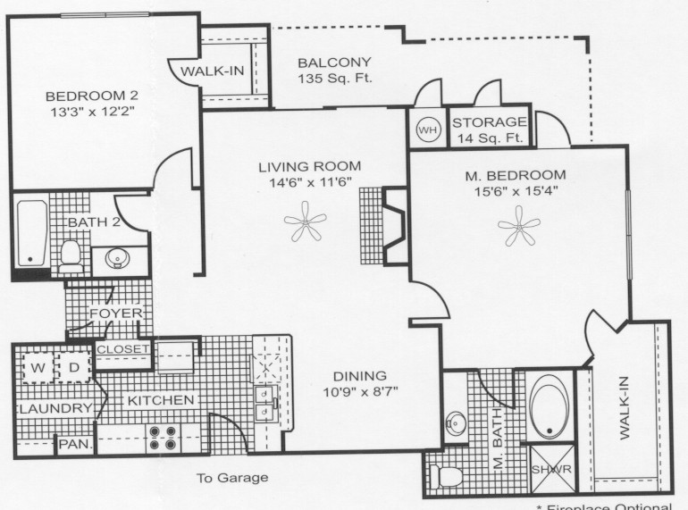 1,243 sq. ft. B7 floor plan
