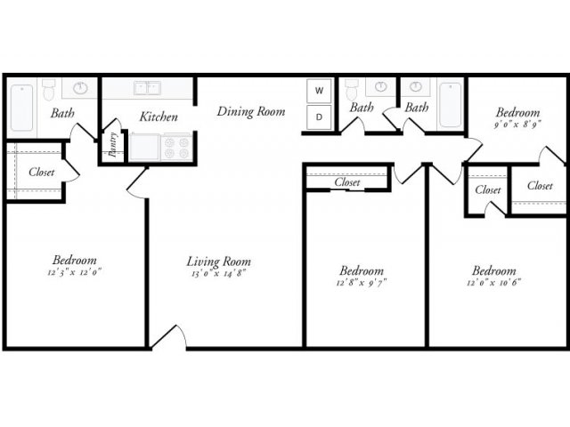 1,200 sq. ft. Granada floor plan