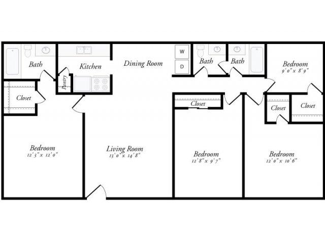 1,200 sq. ft. Granada floor plan