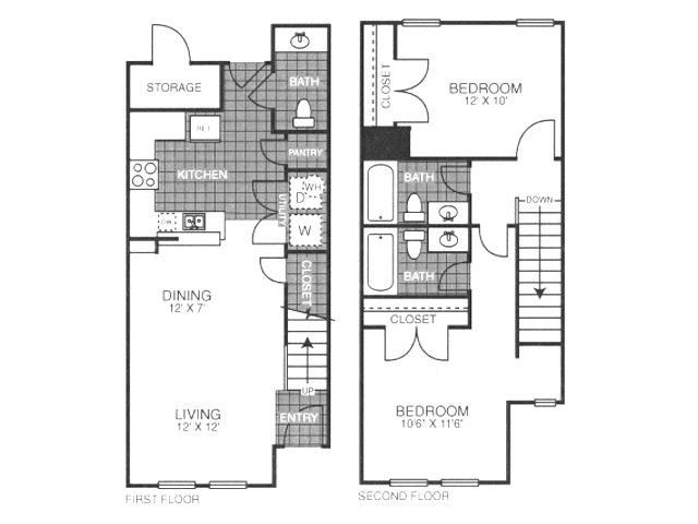 904 sq. ft. SB1/60% floor plan