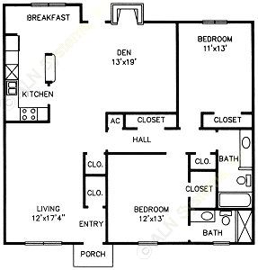 1,321 sq. ft. F floor plan