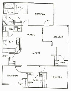 1,315 sq. ft. C1-Johannesburg floor plan