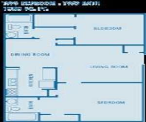 1,080 sq. ft. floor plan