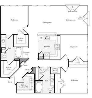 1,478 sq. ft. C1.2 floor plan