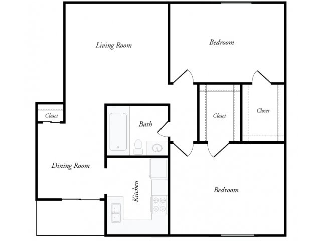 865 sq. ft. floor plan