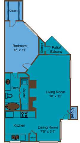 706 sq. ft. to 714 sq. ft. A3/A4 floor plan
