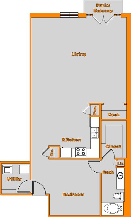 1,066 sq. ft. LOFT 10 floor plan