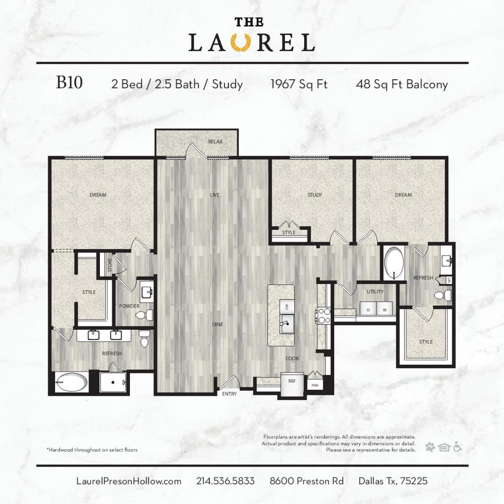 1,967 sq. ft. B10 floor plan