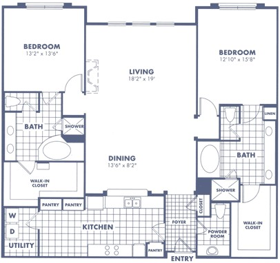 1,858 sq. ft. B3 floor plan