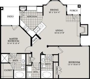 1,152 sq. ft. C5 floor plan