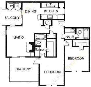 1,020 sq. ft. floor plan