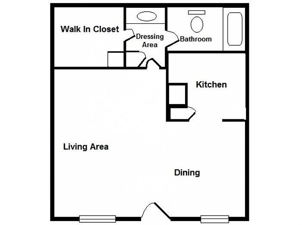 441 sq. ft. floor plan
