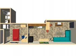 450 sq. ft. Joplin floor plan