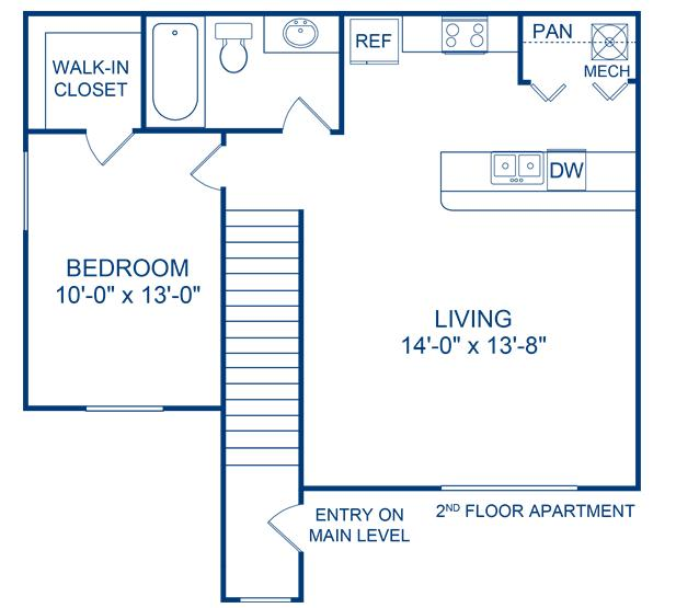 649 sq. ft. Frio floor plan