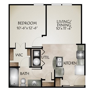 541 sq. ft. SETON(SmartHousing) floor plan