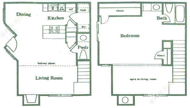 837 sq. ft. A4 floor plan