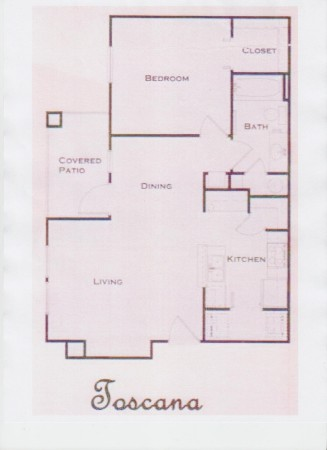 660 sq. ft. 60% floor plan