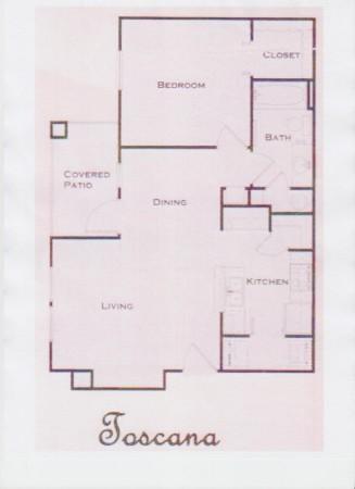 660 sq. ft. 60% floor plan