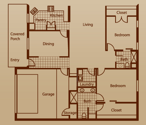 1,817 sq. ft. Kingfisher w/2 GA floor plan