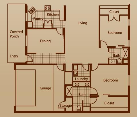 1,817 sq. ft. Kingfisher w/2 GA floor plan