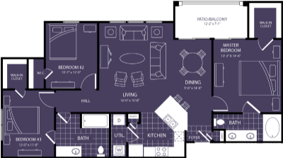 1,309 sq. ft. Babylon floor plan